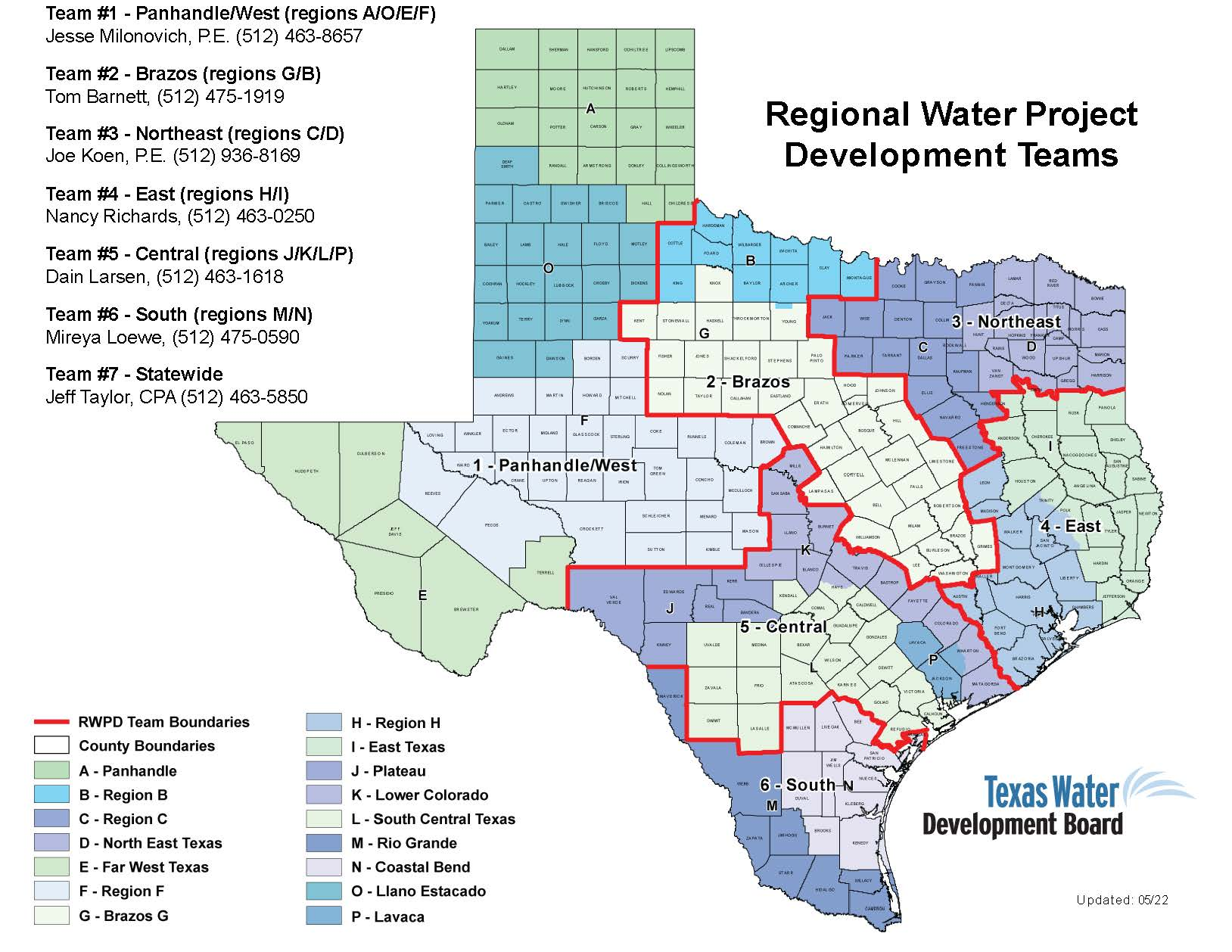 Regional Water Planning and Development Teams