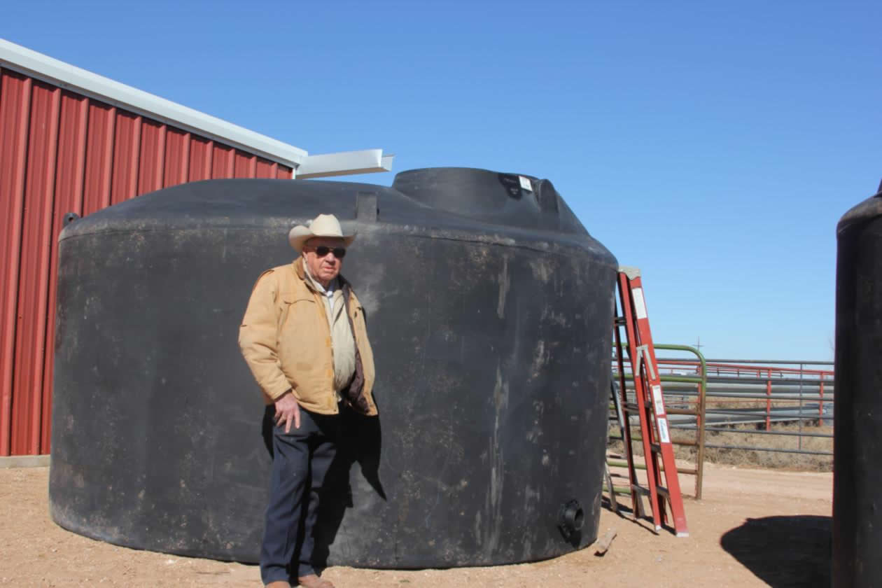 Mr. Durham and Water Tank
