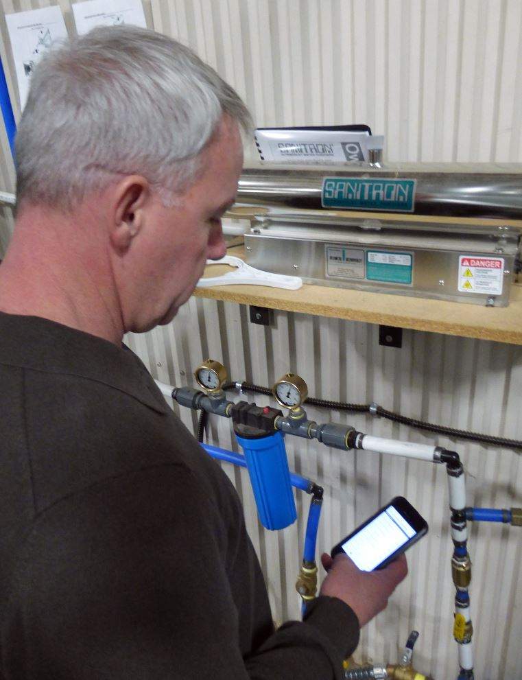The rainwater storage tanks can be controlled using a smartphone app.