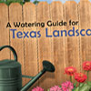 A Watering Guide for Texas Landscape