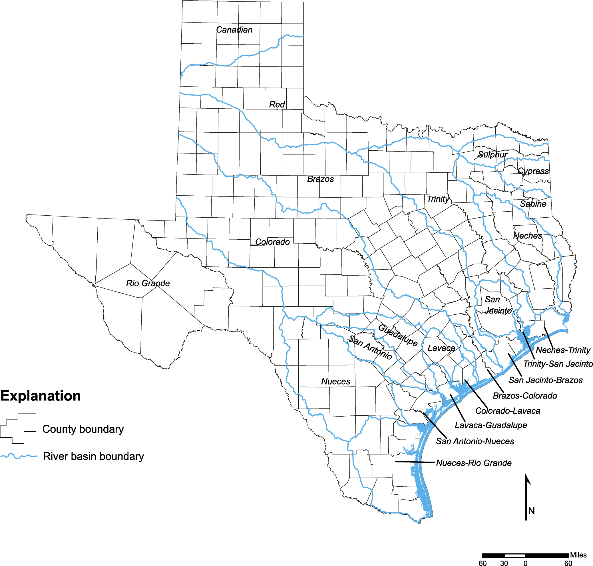 State Water Plan Texas Water Development Board - Map of texas cities and rivers