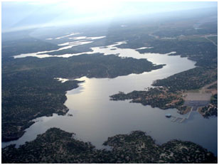 An aerial view to the Alan Henry Reservoir (Photo provided by the owner)