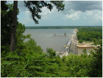 Lake B. A. Steinhagen and Town Bluff Dam (Photo by U.S. Army Corps of Engineers)