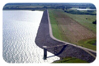 Aerial view of Bardwell Lake and Dam (Photo by owner)