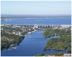 An aerial view to the lake Buchanan and Dam (Photo provided by the owner)
