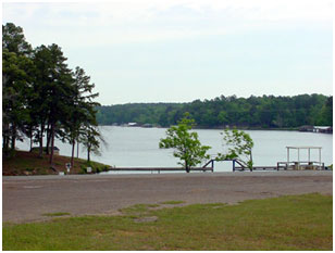 Lake Gladewater (a view to north from west end of dam) (Photo by City of Gladewater)