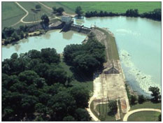 An aerial view to the H-4 Dam and Lake Gonzales (Photo provided by the owner)