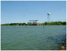 Lake Graham with water supply facility near its shore (Photo provided by Freese and Nichols, Inc.)