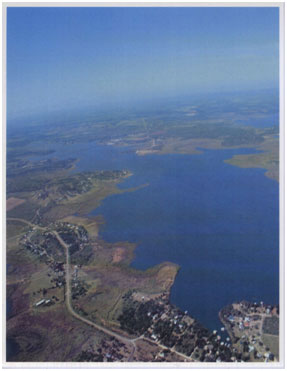 An aerial view to Hubbard Creek Reservoir (Photo provided by the owner)