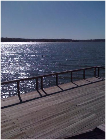 A view to Hubert H. Moss Lake from a pier in north (Photo source: http://www.lakehousevacations.com/images.php?id=6564&f=mosslakephoto.jpg)