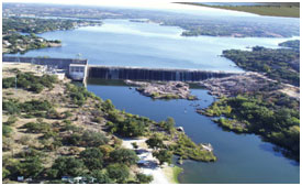An aerial view to the Inks Lake and dam (Photo provided by the owner)
