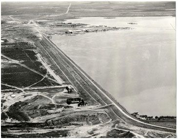 An aerial view to the Lake J. B. Thomas and Colorado City Dam (Photo provided by the owner)