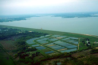 An aerial view of the Lewisville Lake and Dam (Photo provided by the owner)