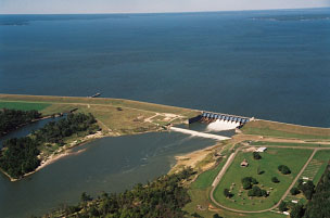 Aerial view of Lake Livingston and Dam (Photo provided by the owner)