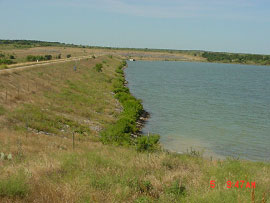 Lost Creek Reservoir and Dam (Photo provided by Freese and Nichols, Inc.)