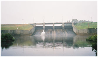 Service Spillway of Martin Lake and Dam (Photo by Freese and Nichols, Inc.)