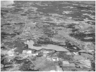 An aerial view to Lake Mineral Wells (Photo provided by the owner)