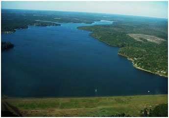 Aerial view of the Lake Nacogdoches (Photo City of Nacogdoches)