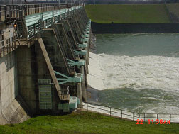 Lake Ray Hubbard Spillway in operation (Photo provided by the owner)