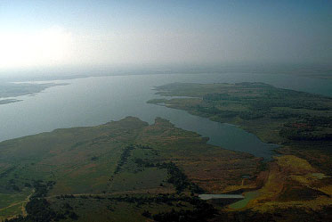 Aerial view of the Ray Roberts Lake (Photo courtesy of the U. S. Army Corps of Engineers)