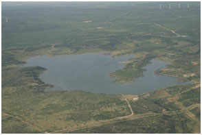 An aerial view to the Red Draw Reservoir and Dam (Photo provided by the owner)