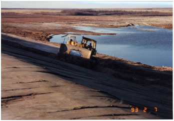 Sulphur Draw Reservoir and Dam under construction (Photo provided by the owner)