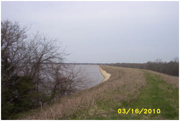 Sulphur Spring Lake and Dam (Photo provided by Freese and Nichols, Inc.)