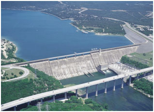 An aerial view to the lake Travis and Mansfield Dam (Photo provided by the owner)