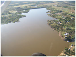 An aerial view to the White River Reservoir and dam (Photo provided by the owner)