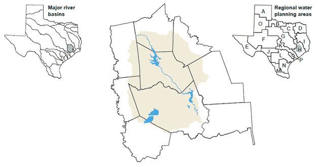 River Basins San Jacinto River Basin Texas Water