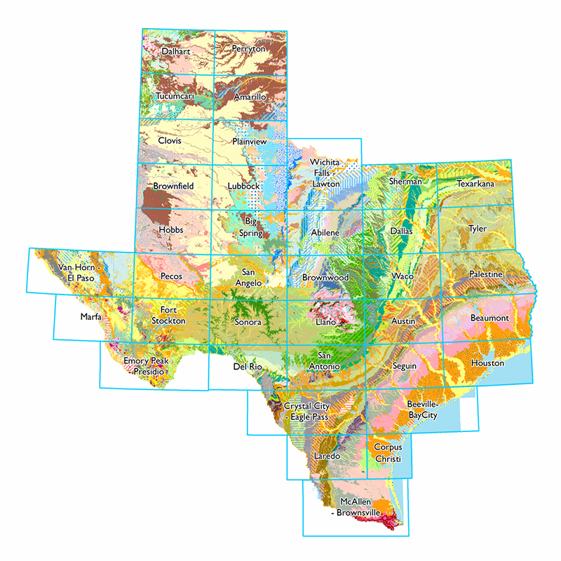 Geologic Atlas Of Texas Scanned Sheets Texas Water - Map of the texas