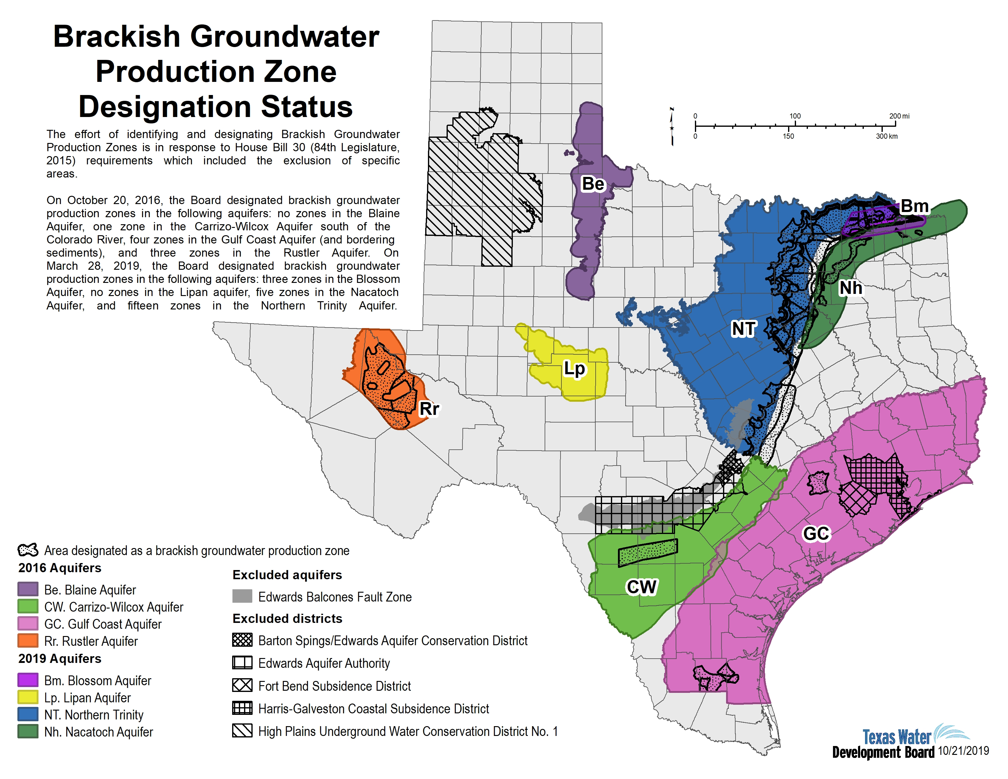 Texas Water Aquifer Map Innovative Water Technologies   Brackish Groundwater Production