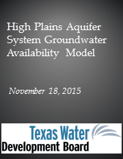 High Plains Aquifer System Groundwater Availability Model.