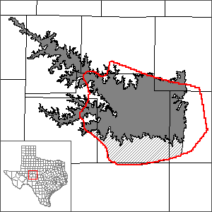 This map shows the extent and location of the Lipan Aquifer Groundwater Availability Model.