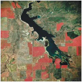 An aerial map photo for Miller Creek Reservoir (source unknown)