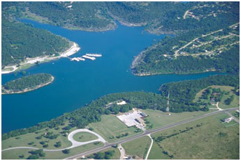 Aerial view of Stillhouse Hollow Lake (Photo provided by the operator)