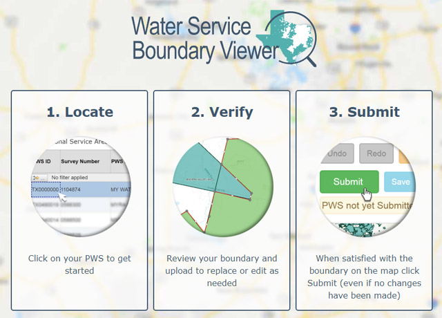 Texas Water Service Boundary Viewer logo